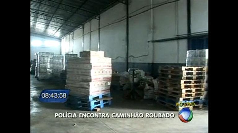 Polícia encontra no DF caminhão que foi roubado em Anápolis ...