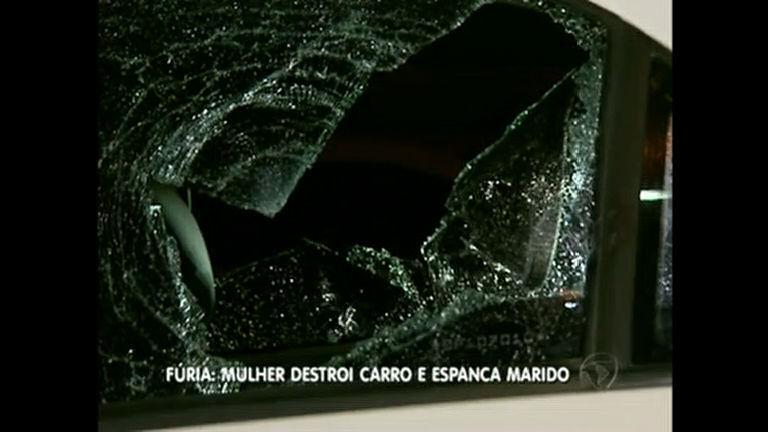 Ataque de fúria: homem é agredido com barra de ferro e tem carro ...