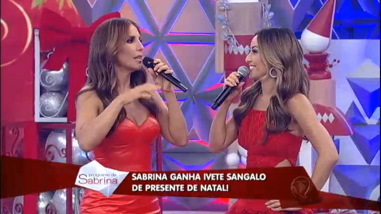 Sabrina Sato ganha a presença de Ivete Sangalo de presente de ...