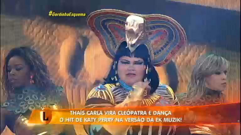 Diva: vestida de Cleópatra, Thaís Carla comanda apresentação de ...