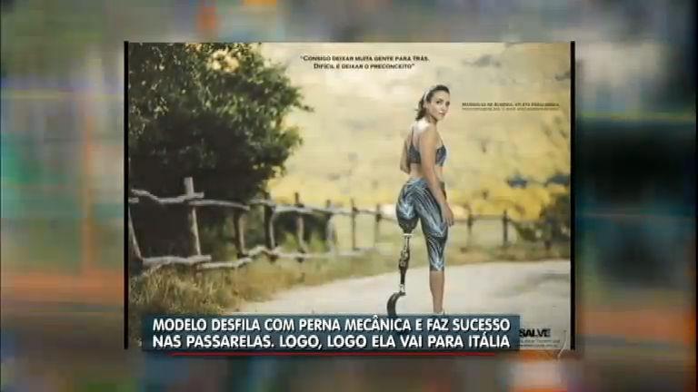 Mulher que perdeu a perna faz muito sucesso como modelo e atleta