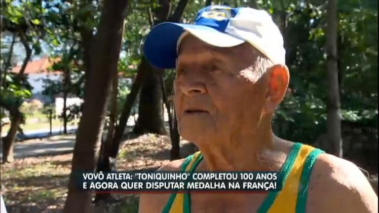 Vovô de 100 anos é campeão mundial de atletismo e quer realizar mais um desafio