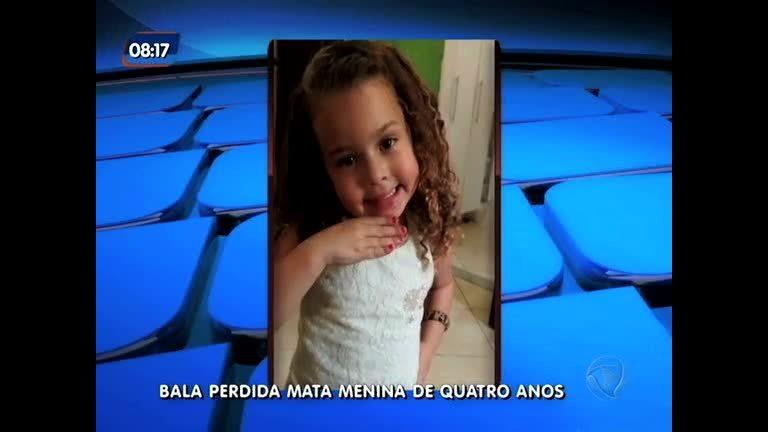 Menina de 4 anos que morreu após ser baleada será velada nesta segunda-feira (19)