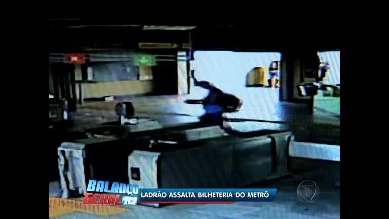 Polícia procura ladrão flagrado assaltando metrô em Tomás Coelho (RJ)