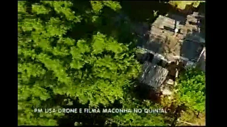 PM usa drone e filma maconha em quintal de casa