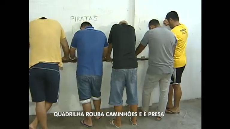 Presa quadrilha especializada em roubos de caminhões no Rio grande do Sul