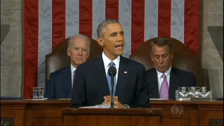 Barack Obama realiza discurso do Estado da União com otimismo