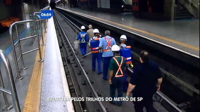 Saiba como os funcionários do Metrô de SP trabalham na madrugada
