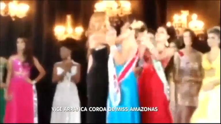 Miss Barraco: vice colocada no Miss Amazonas arranca coroa de campeã
