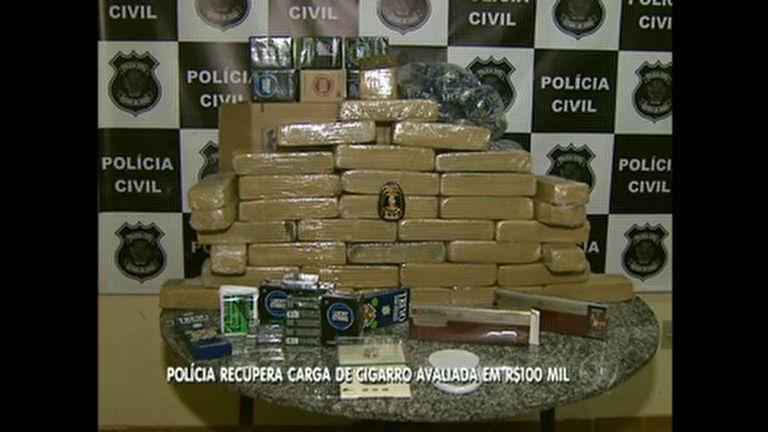 Polícia recupera carga de cigarros roubada e apreende 30 quilos ...