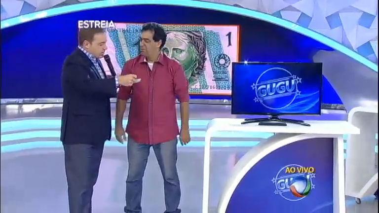 Telespectador leva nota de R$ 1 e troca por uma TV de led ...