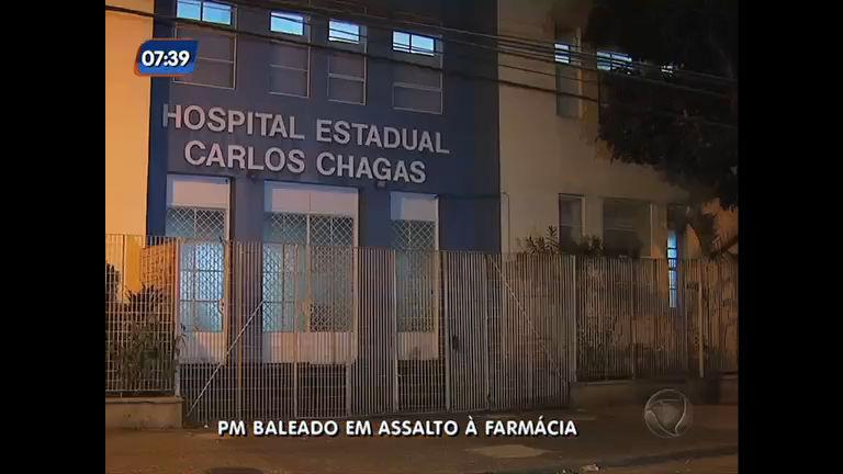 Policial militar é baleado em assalto à farmácia na zona oeste do Rio