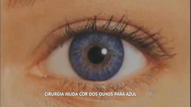 adeb09975 Cirurgia muda cor dos olhos para azul - RecordTV - R7 Fala Brasil