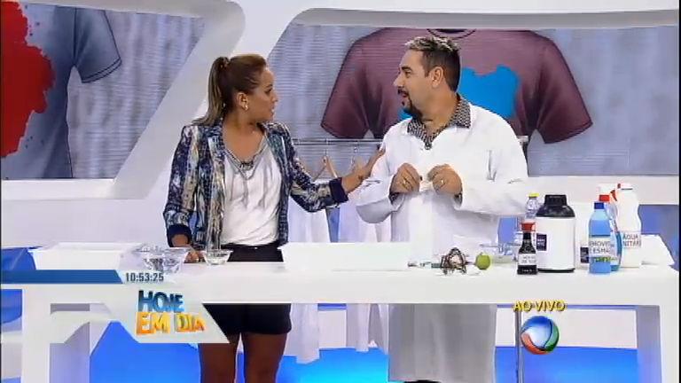 Dr. Tira Manchas ensina a remover ferrugem e chicletes de tecidos ...