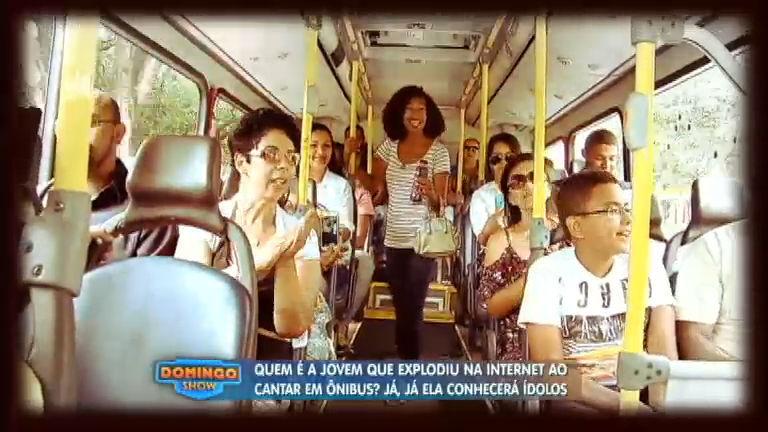 """""""Cantora"""" de ônibus fica frente a frente com seus ídolos Chitãozinho ..."""
