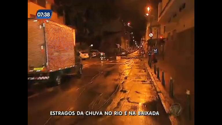 Chuva provoca acidente e causa estragos no Rio e na Baixada ...