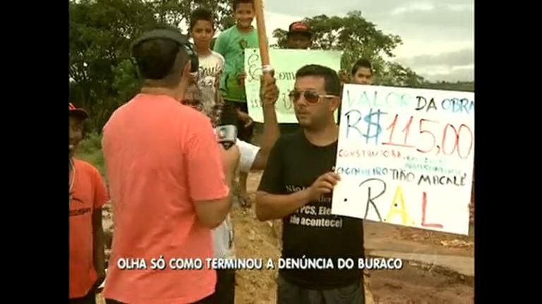 Após protesto bem humorado, prefeitura de Águas Lindas tampa ...