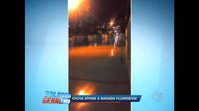 Forte chuva causa alagamentos e estragos na Baixada Fluminense ...