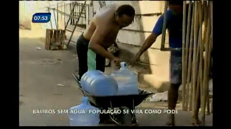 Bairros sem água: população se vida como pode - Bahia - R7 Bahia ...