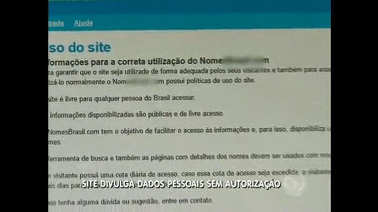 Site divulga dados pessoais sem autorização - Distrito Federal - R7 ...