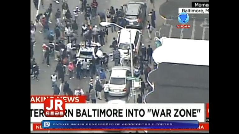 Protestos deixam ao menos sete pessoas feridas em Baltimore (EUA)
