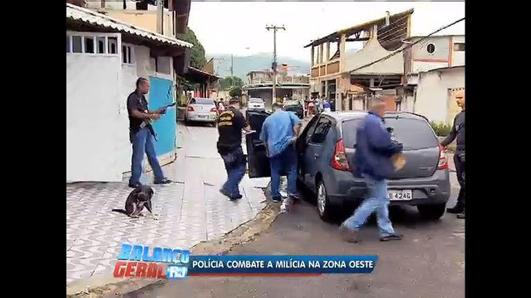 Polícia faz operação para combater ação de milicianos na zona ...