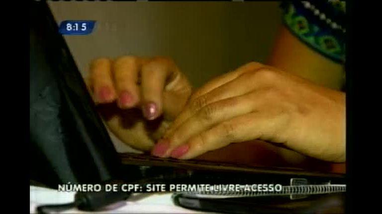 Site permite livre acesso a CPF de brasileiros - Minas Gerais - R7 ...