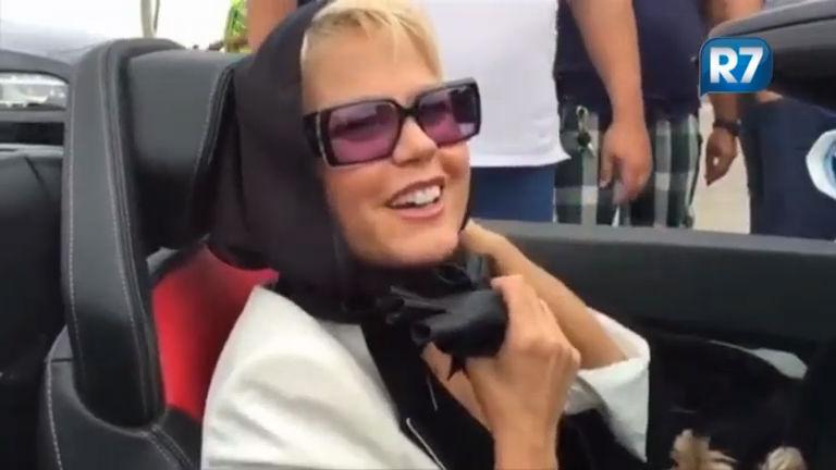 Xuxa grava chamadas na Record e manda recado aos internautas ...