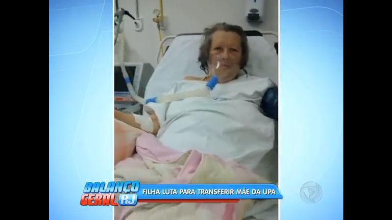 Após infarto, filha tenta transferir mãe de UPA para CTI de outro hospital