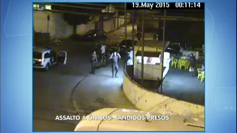 Câmeras de segurança ajudam PM a prender assaltantes de ônibus