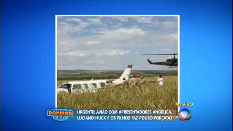Avião com Angélica e Huck faz pouso forçado em fazenda no MS ...