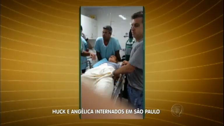 Luciano Huck, Angélica e os três filhos chegam a SP após pouso forçado
