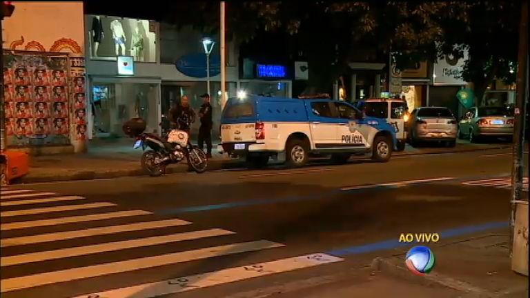 Bandido troca tiros com polícia no bairro de Ipanema, no Rio de Janeiro