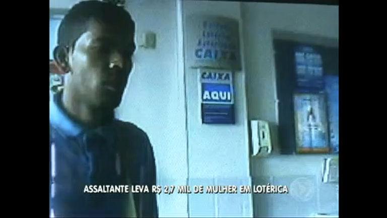 Homem assalta mulher em lotérica do Riacho Fundo