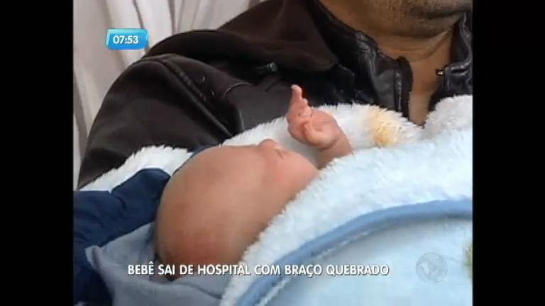 Bebê sai de hospital com fratura; família suspeita de acidente ...
