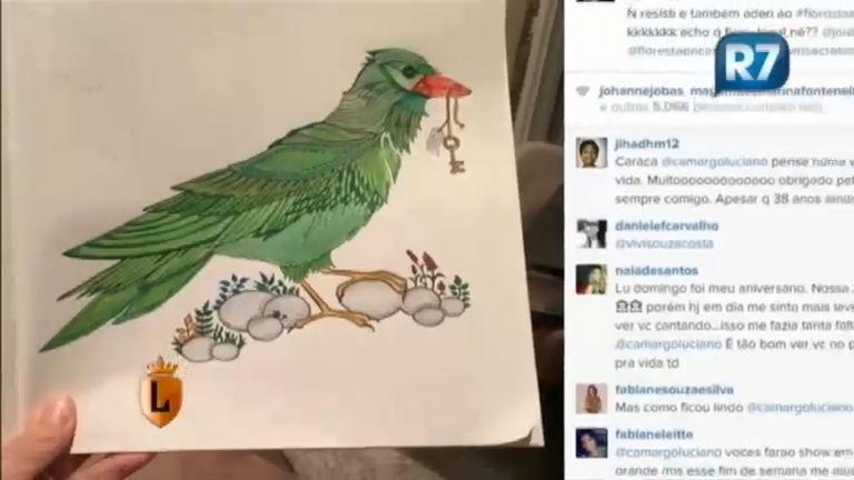 Cantor Luciano adere à onda dos livros de colorir