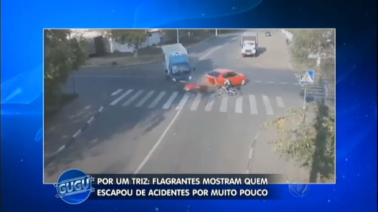 Impressionante! Flagrantes mostram quem escapou de acidentes ...