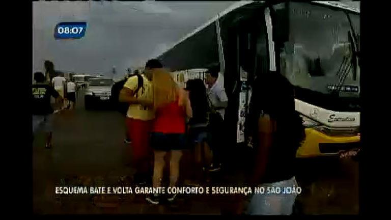 Esquema bate e volta garante conforto e segurança no São João