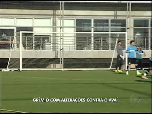 Grêmio com alterações contra o Avaí