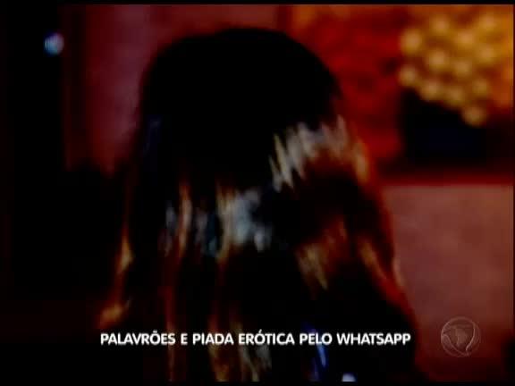 Palavrões e piada pelo WhatsApp