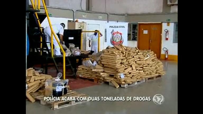 Polícia Civil do DF incinera pouco mais de duas toneladas de drogas