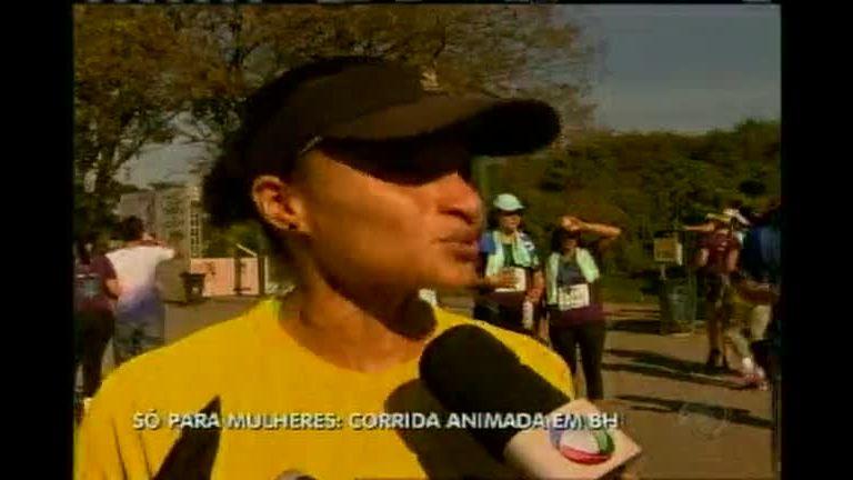 Corrida só para as mulheres anima Belo Horizonte