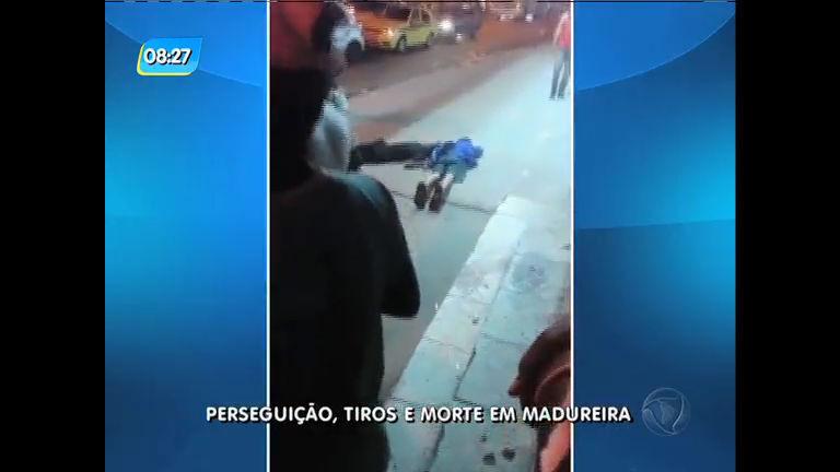 Suspeito é morto e dois menores são apreendidos após perseguição e troca de tiros em Madureira