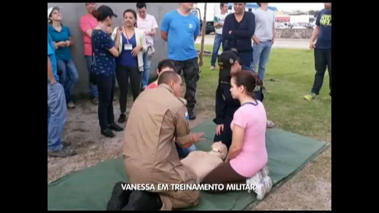 Vanessa Pires em Treinamento Militar