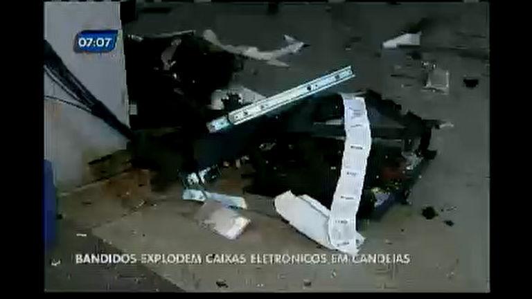 Bandidos explodem caixas eletrônicos em Candeias