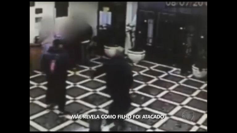 Mãe revela como filho foi atacado