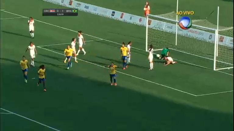 83d23b0dbb Confira os melhores momentos da partida entre Brasil e Costa Rica no Pan  2015 - Record News Play - R7 Esporte Record News