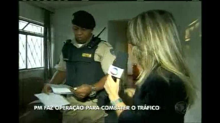 Polícia Militar realiza operação de combate ao tráfico de drogas em BH