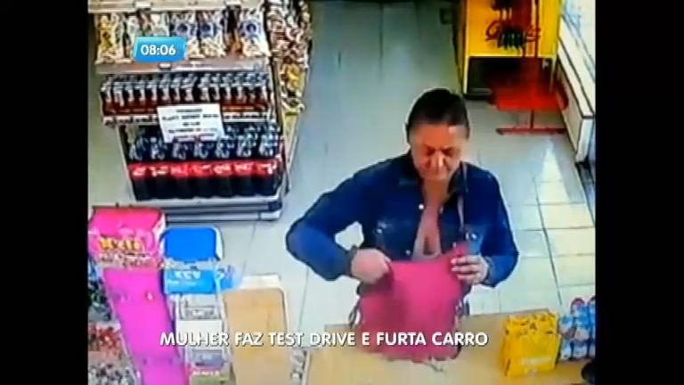 Mulher pede para fazer test drive e furta carro em Ribeirão Preto (SP)