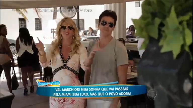 """Rodrigo Faro leva Val Marchiori para um passeio na """"Miami do povão"""""""